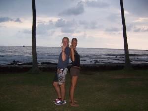 Verena und Beate in Kona